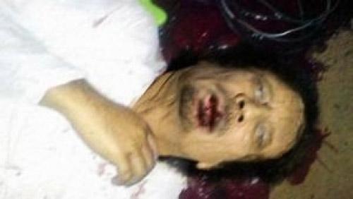 dead gaddafy