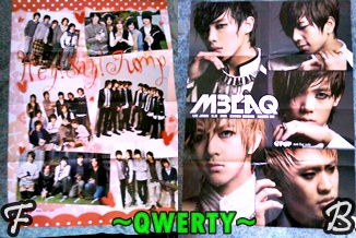 Front > Back :D HSJ/MBLAQ Poster/ Pin-up ---> $4
