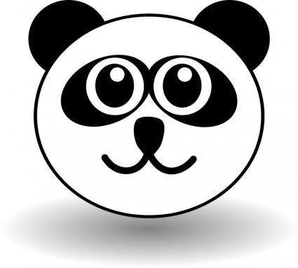 gambar-kartun-wajah-hewan-panda