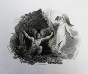 The loosing of Satan. Revelation cap 20 v 7. Burney. Phillip Medhurst Collection.