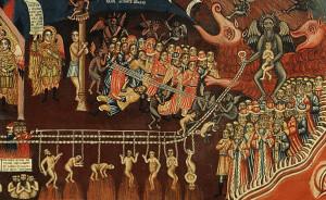 Фрагмент иконы «Страшный Суд».