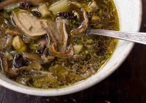 Как сварить суп из сушеных грибов рецепт