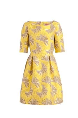 Желтое платье max co