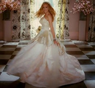 Sex and the city movie carrie wedding dress