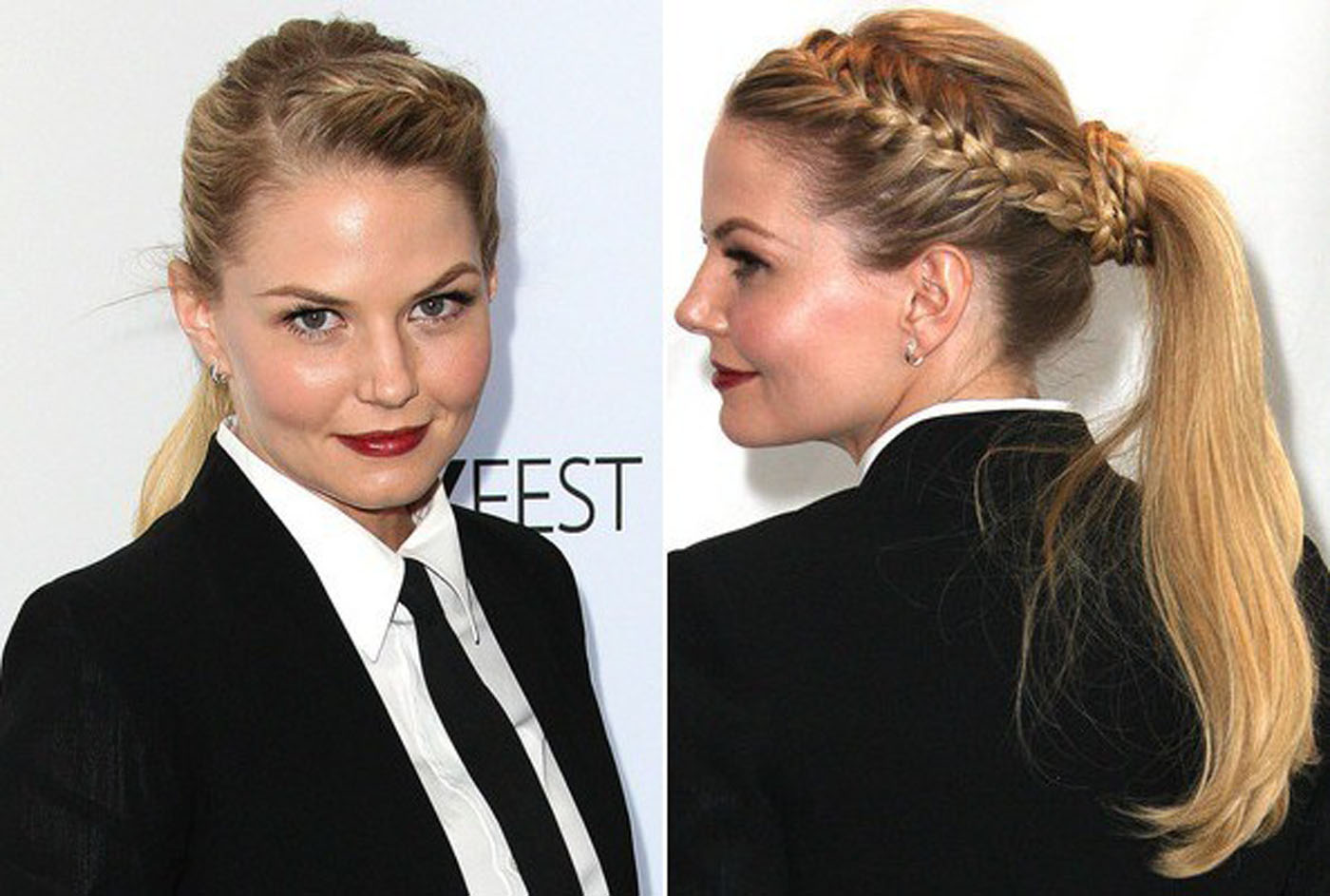 Formal-Hair-of-Jennifer-Morrison-with-French-Braid-Styles-Ponytail-Hair
