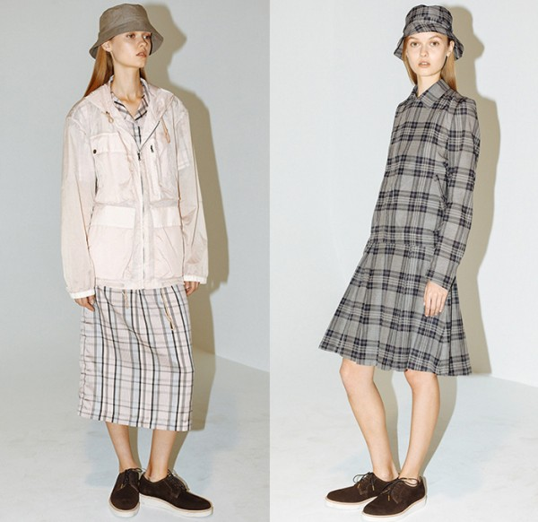 duckie-brown-new-york-fashion-week-2015-spring-summer-womens-slouchy-normcore-silk-plaid-coat-shorts-anorak-drawstring-bucket-hat-skirt-metallic-03x