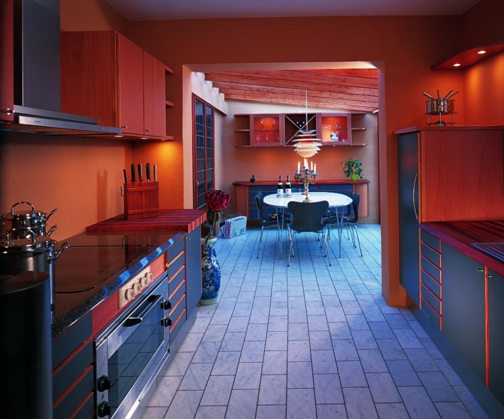 cozy-kitchen-interior-in-red-color