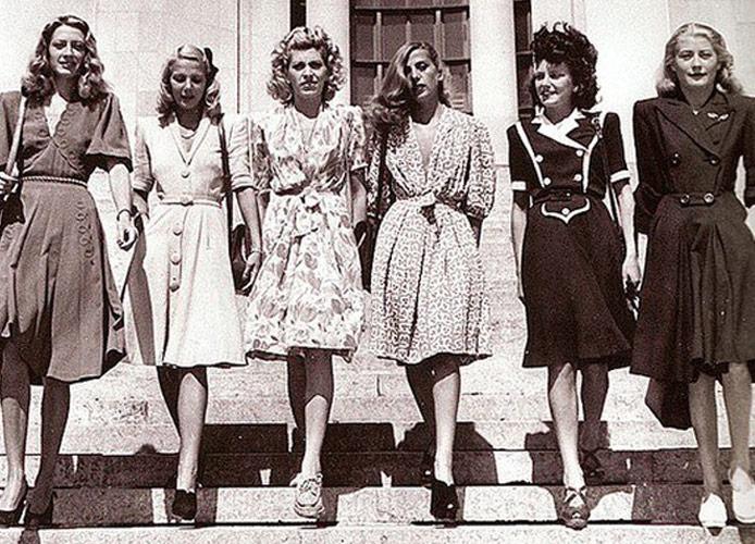 Платья 40-х годов женские