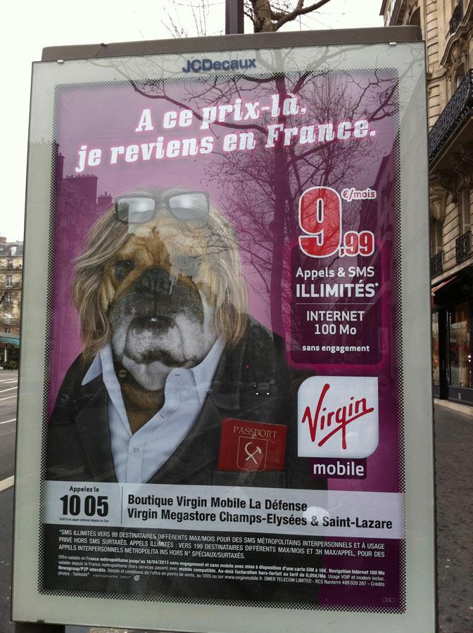 Virgin Mobile, жерар депардье, юмор, реклама
