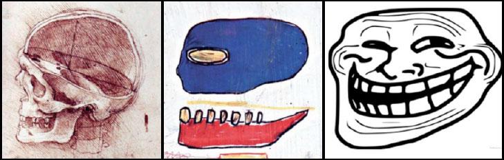 Леонардо да Винчи, Жан-Мишель Баския, троллфейс, фасткульт