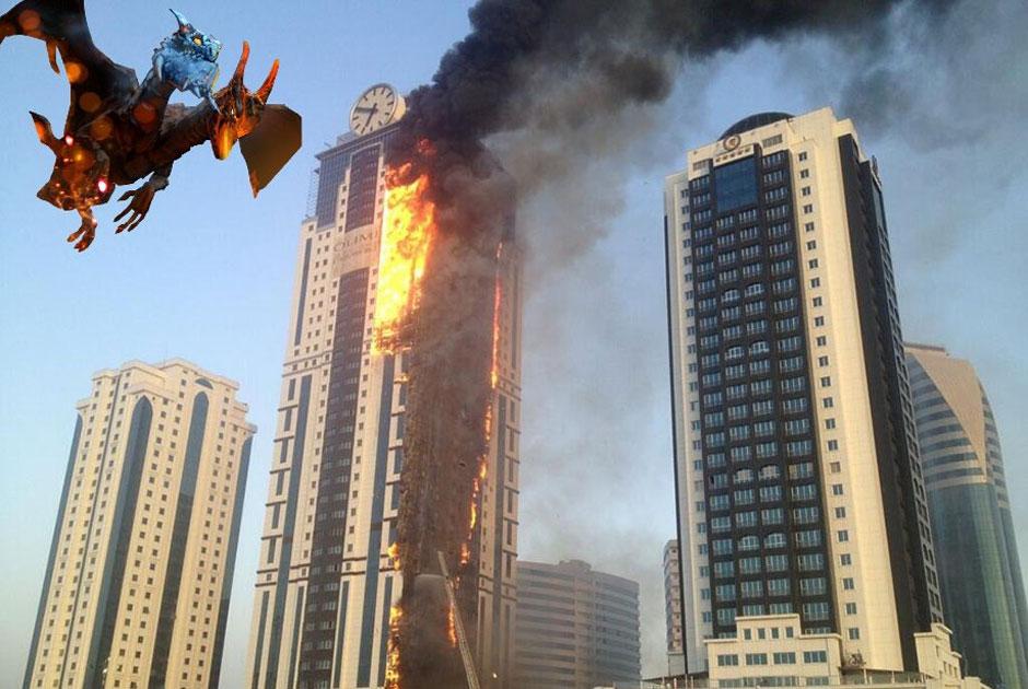 пожар, Грозный, Депардье, Кадыров