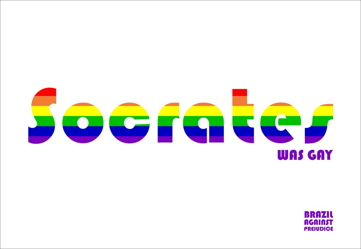 Бразилия, гей, Сократ, реклама