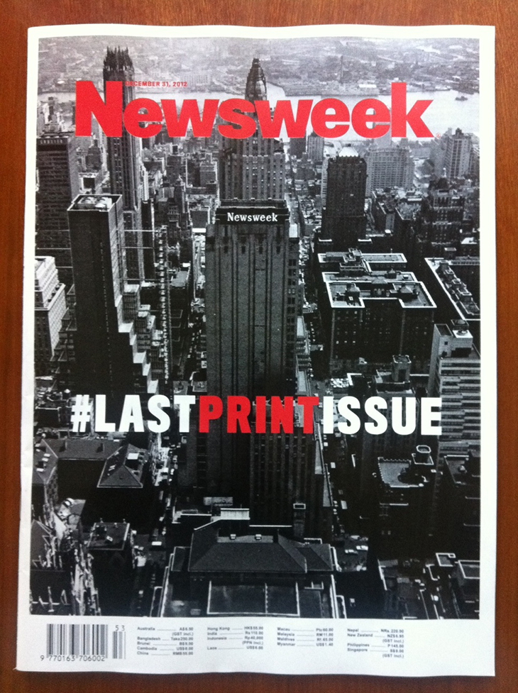 newswek, lastprintcover, tina brown