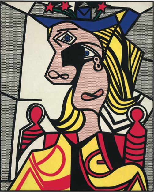 Рой Лихтенштейн, Женщина с цветочной шляпкой