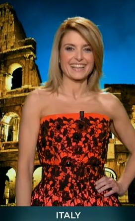 Федерика Джентиле, Евровидение 2013, глашатаи