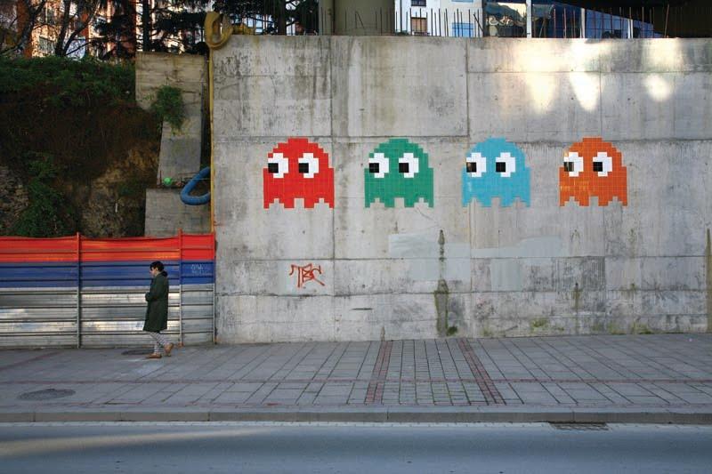Space Invader, graffiti
