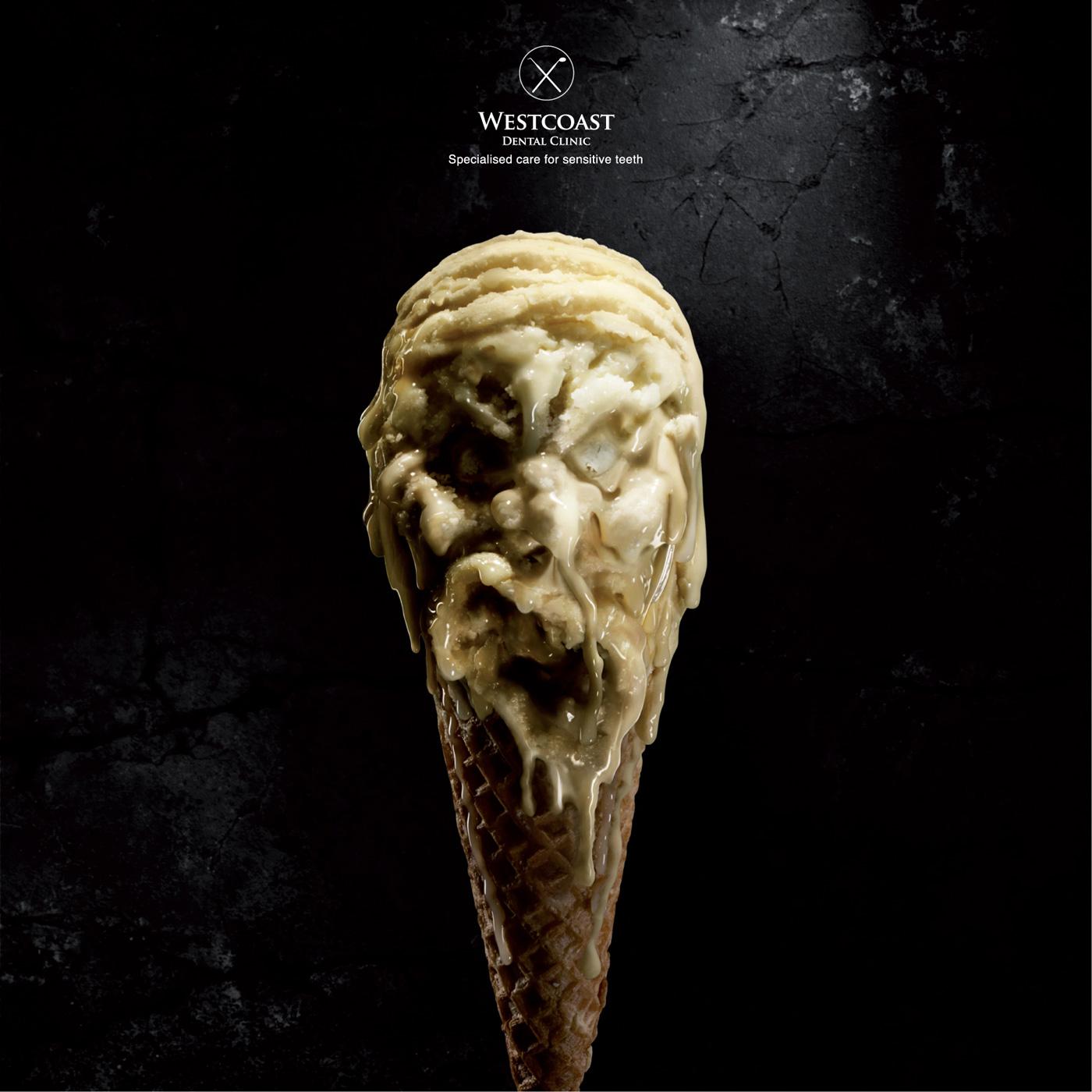 мороженое, реклама