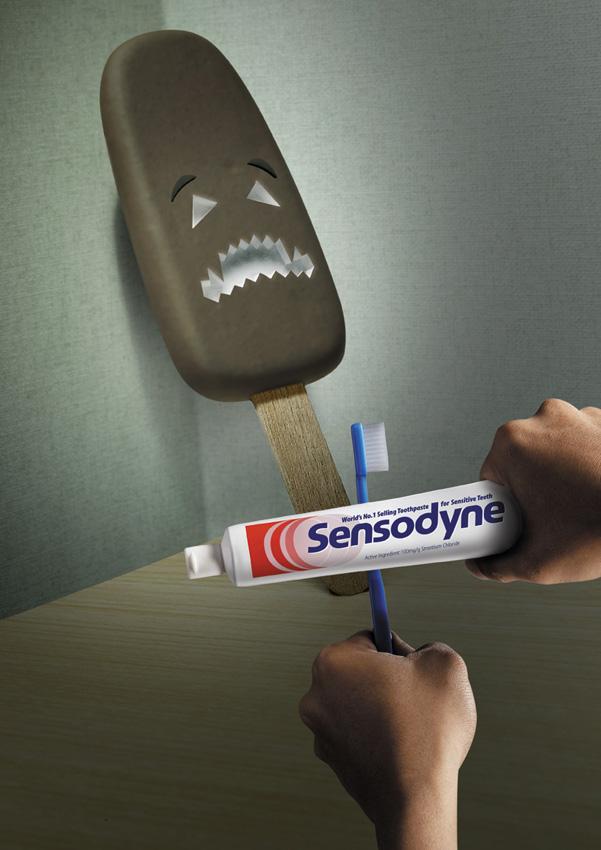 мороженое, стоматология, реклама