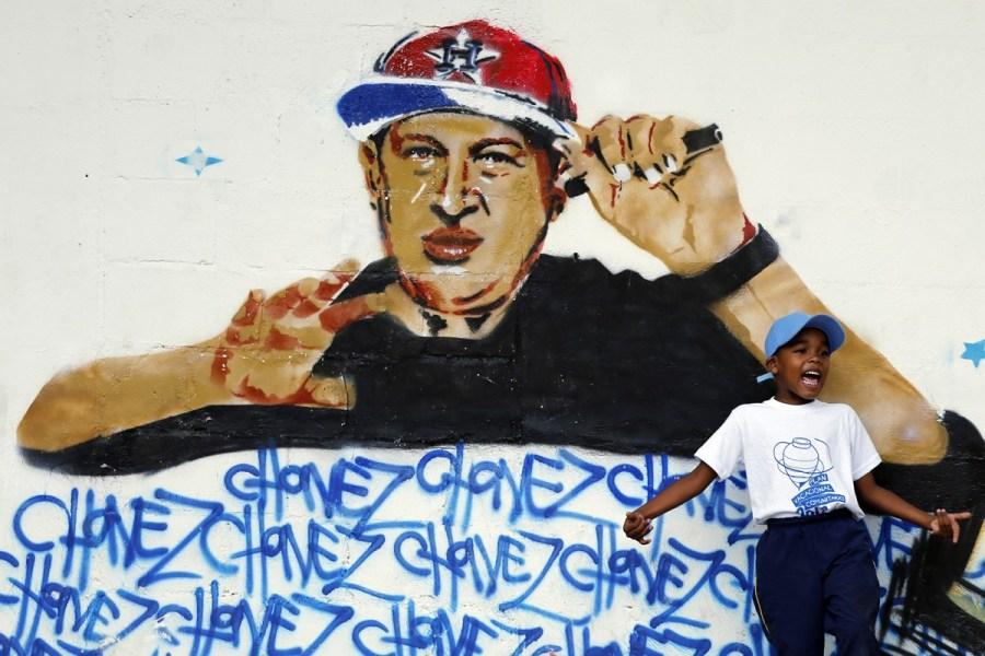 Уго Чавес, граффити
