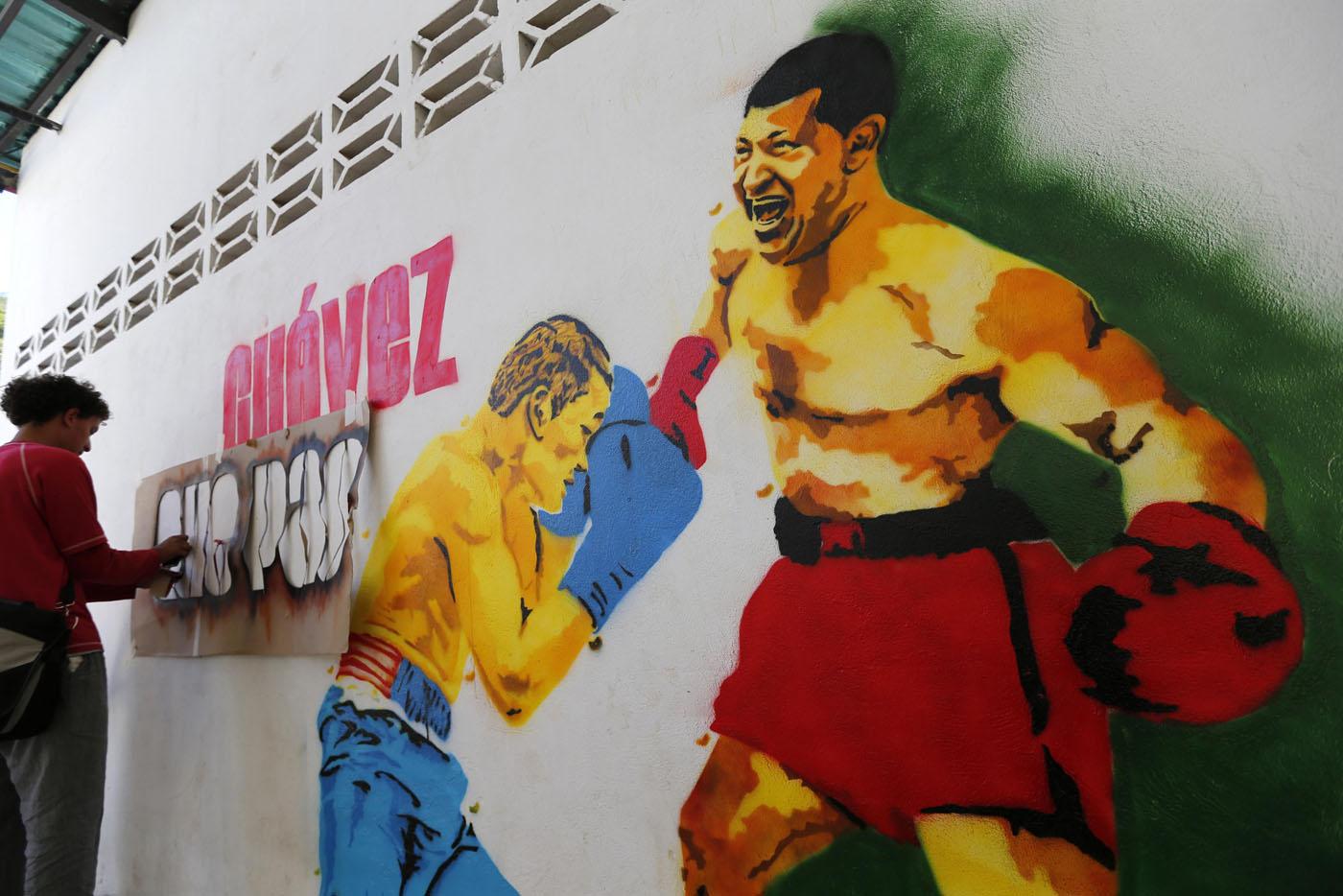 graffiti-hugo-chavez-boxe