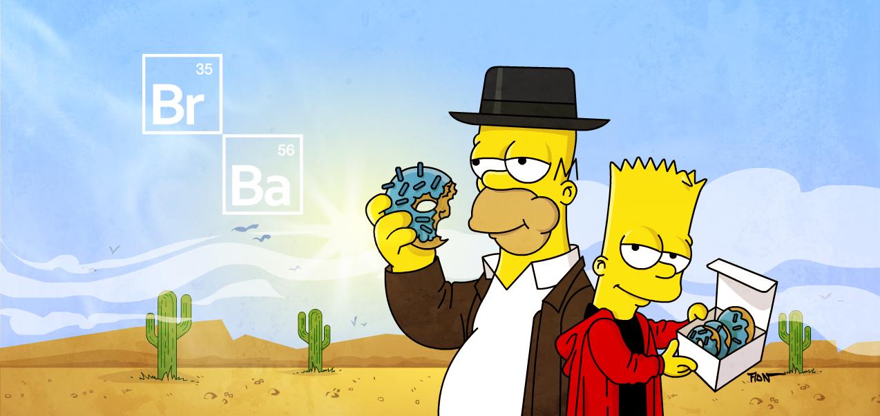 Во все тяжкие, Симпсоны