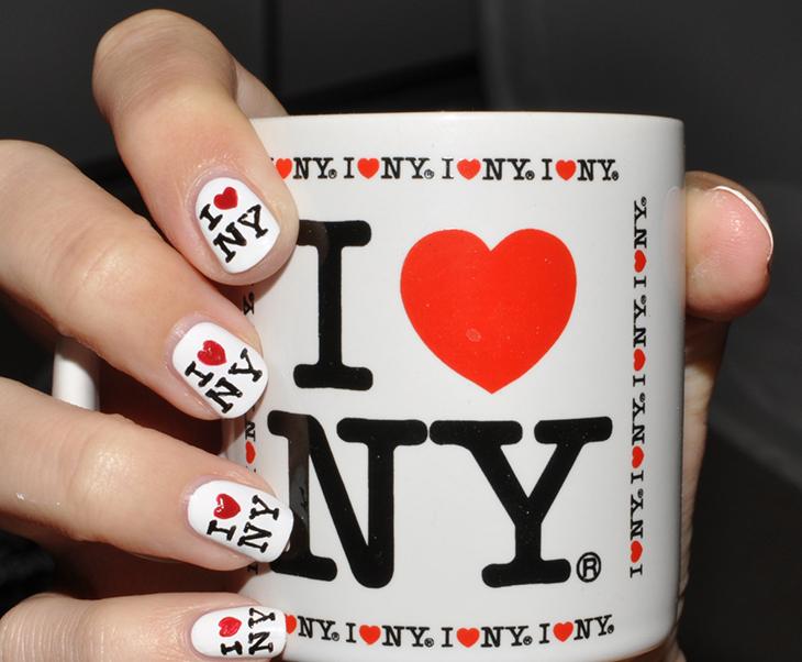 i love NY nail art cup