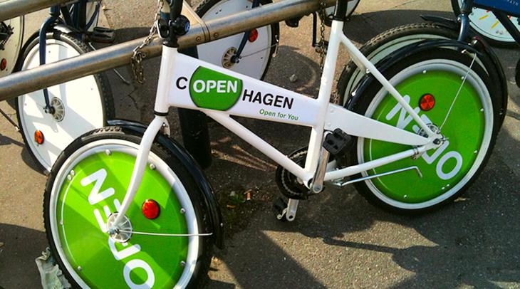 Bycykel med OPEN logo