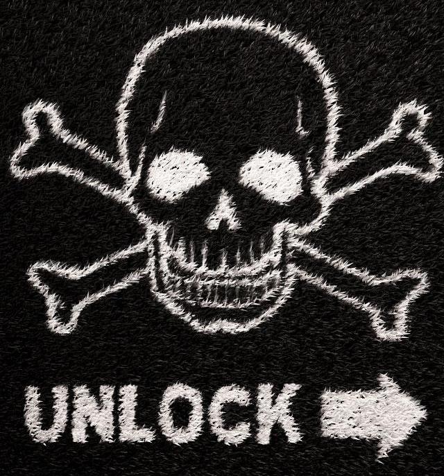 Death Skull Lockscreen iPhone 5 Wallpaper