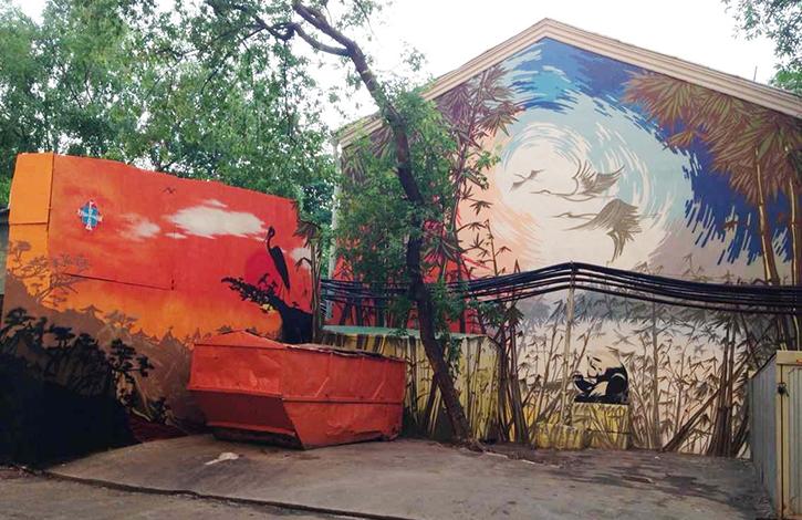 восточное граффити