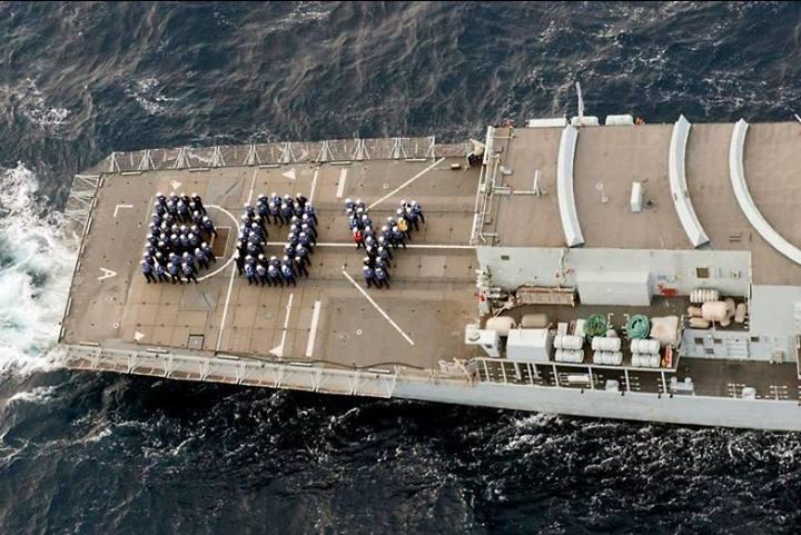 Британский Королевский флот празднует рождение наследника.