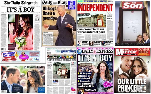 Обложки бритаских газет