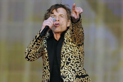 Мик Джаггер во время выступления The Rolling Stones в Гайд-парке