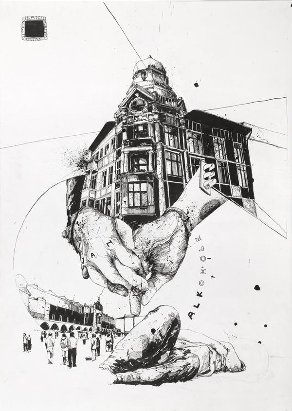 Kraków - Ink on Paper