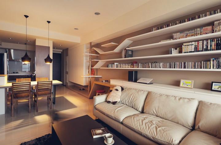 котики, дизайн, интерьер, гостиная