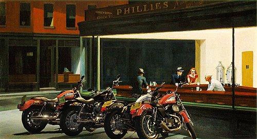 Хоппер, полуночники, мем, мотоцикл, байкеры