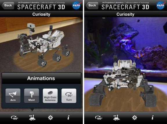 spacecraft 3d, приложение, дополненная реальность, AR, iOS, Android