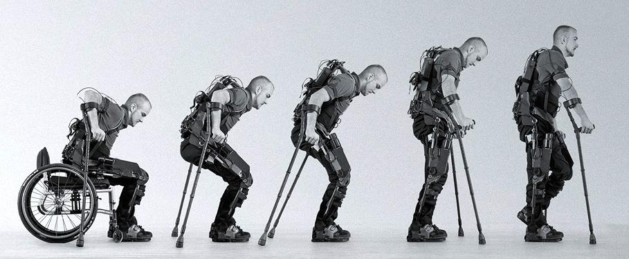 ekso bionics, экзоскелет, технологии, инвалидная коляска