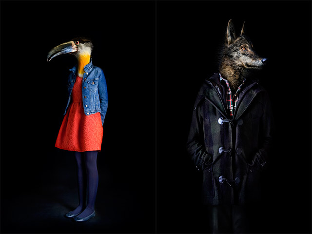 second skins, Segundas Pieles, Мигель Фаллинас, фотография, животные, антропоморфия, животные одетые как люди