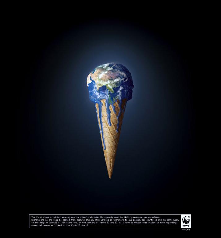 melting-wwf-campaign, глобальное потепление, bbdo, реклама