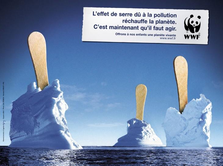 wwf, реклама, глобальное потепление