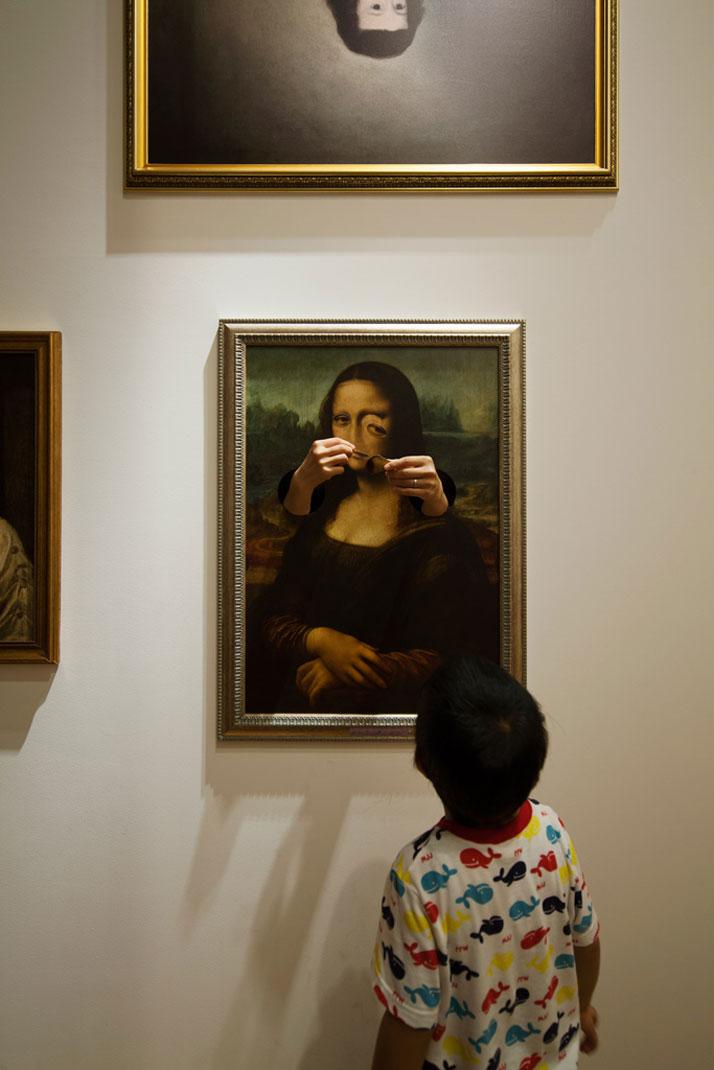 haunted house, токио, дети, музей, искусство, Мона Лиза