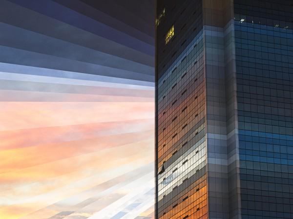 Fong Qi Wei, время, фотография, коллаж, небоскреб