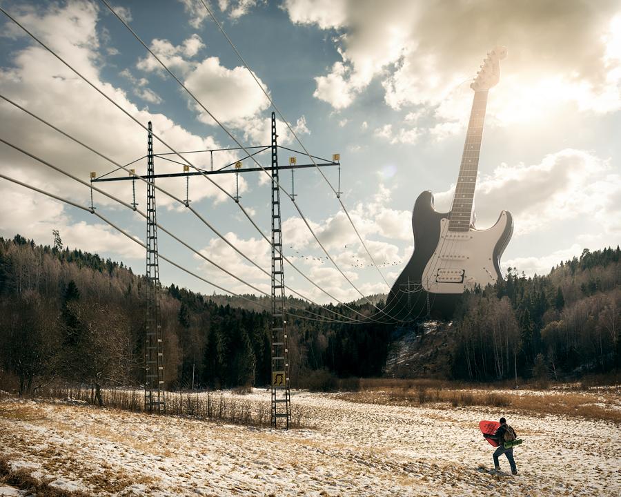 electricguitar, Эрик Йоханссон, фотография, ретуширование