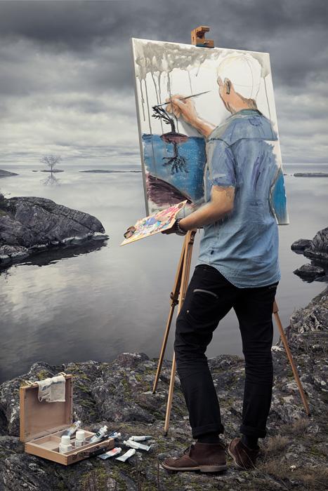 Эрик Йоханссон, фотография, ретуширование, self actualization