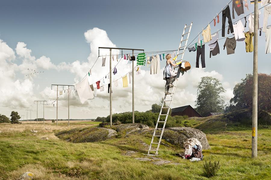 Эрик Йоханссон, фотография, ретуширование, день большой стирки