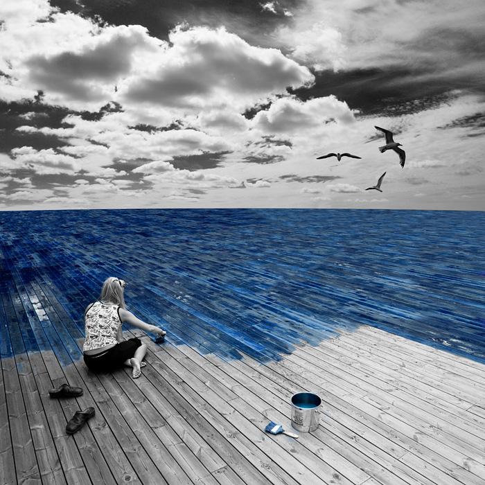 Эрик Йоханссон, фотография, ретуширование, работа на море
