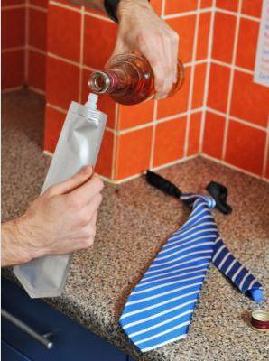 flask tie, галстук, алкоголь, фляга