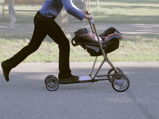 hybird, коляска, скутер