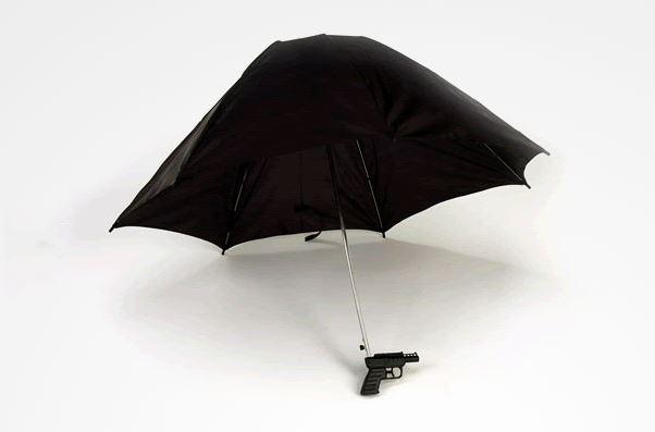 зонт, водяной пистолет