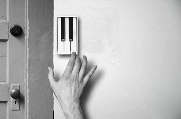 пианино, клавиши, звонок